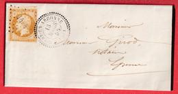 N°13 PC 1404 GIVRY EN ARGONNE MARNE CAD TYPE 22 POUR EPENSE - 1849-1876: Klassieke Periode