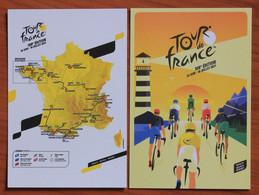 Cyclisme : Tour De France 2021 , 2 Cartes Officielles : Parcours Et Affiche - Cycling