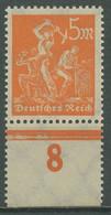 Deutsches Reich 1923 Arbeiter A. Kartonpapier Unterrand 238 Z Postfrisch Geprüft - Usados