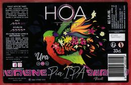 Polynésie Française / Tahiti - Etiquette De Bière HOA Tahiti / Pia Ipa - 33 Cl -  2021 - Sup - Beer