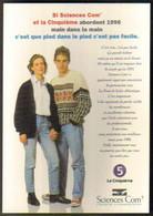 """Carte Postale """"Cart'Com"""" Série """"Divers..."""" - Sciences Com' Et La Cinquième (Bonne Année 1996) Nantes - Advertising"""