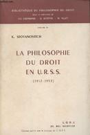 """La Philosophie Du Droit En U.R.S.S. (1917-1953) - """"Bibliothèque De Philosophie Du Droit"""" Volume IV - Stoyanovitch K. - 1 - Géographie"""