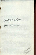 Sverdlov - Photocopie. - Trotsky Léon - 0 - Biographie
