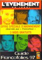 """Carte Postale """"Cart'Com"""" - Série """"Divers,..."""" - Lévénement Du Jeudi (Michel Jonasz, Maurane, Louis Chedid, Kent,...) - Advertising"""