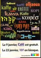 """Carte Postale """"Cart'Com"""" - Série """"Divers, Presse, Média.."""" - Café (journal Bimensuel) Titre En Plusieurs Langues - Advertising"""