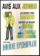 "Carte Postale ""Cart'Com"" - Série ""Divers, Presse, Média,..."" - Avis Aux Jeunes (infos Radios) Mode D'emploi - Advertising"