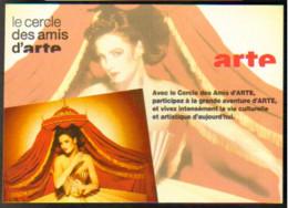 """Carte Postale """"Cart'Com"""" - Série """"Divers, Presse, Média,..."""" - Le Cercle Des Amis D'arte (chaîne Télévision) - Advertising"""