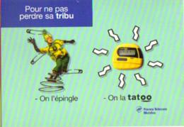 """Carte Postale """"Cart'Com"""" - Série """"Divers,..."""" Tatoo (personnage Sur Ressort) France Telecom Mobiles - Advertising"""