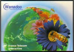 """Carte Postale """"Cart'Com"""" - Série """"Divers,..."""" Wanadoo (abeille Sur Mappemonde) France Telecom Interactive - Rennes - Advertising"""