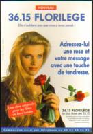 "Carte Postale ""Cart'Com"" - Série ""Divers, Presse, Média,..."" 3615 Florilège (Adressez-lui Une Rose...) - Advertising"