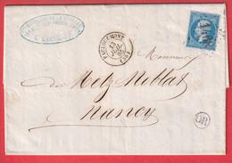 N°22 GC 1468 FAULQUEMONT MOSELLE OR LANDROFF POUR NANCY MEURTHE ET MOSELLE - 1849-1876: Klassik