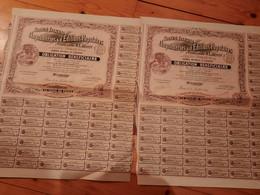 2  ACTIONS  OBLIGATION  De  La SOCIETE Francaise  D ' Imprimeries & Editions Populaires  1906 - 51  Coupons ( LOT 1 ) - Zonder Classificatie
