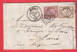 N°56 58 GC 1733 GUERET CREUSE POUR PARIS - 1849-1876: Klassik