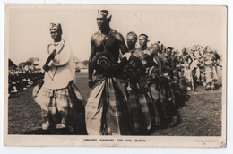 NIGERIA : URHOBO DANCERS FOR THE QUEEN - CPSM FORMAT CPA - REAL PHOTO - ECRITE EN 1956 - 2 SCANS - - Nigeria