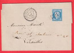 N°60 GC 4704 CERNAY LA VILLE CAD TYPE 24 SEINE ET OISE POUR VERSAILLES INDICE 12 LA CELLES LES BORDES DETTES GUERRE 1870 - 1849-1876: Klassik