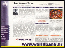 Croatia 1998 / The World Bank, Country Office Zagreb / Unused, Uncirculated - Advertising