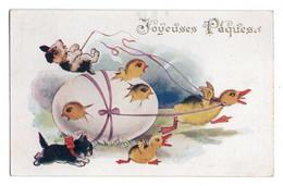 (chats) 384, Gustave Jacob No 4201, Joyeuses Paques - Katten