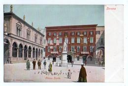 (Italie) Veneto 201, Verona, Franchini 7208,  Piazza Dante, Dos Non Divisé - Verona