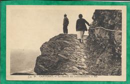 Carteret (50) Le Chemin Des Contrebandiers 2scans Carte Animée 11-08-1935 - Carteret