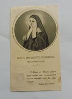 Image Religieuse -  Bernadette  SOUBIROUS - Relique - Devotion Images