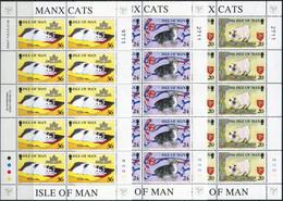 Isle Of Man 1996. Mi.#668/72 MNH/Luxe. 5 Klb. Animals. Cats From The Isle Of Man (B14) - Isla De Man