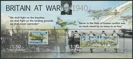 Isle Of Man 2010. Mi.Bl.#72 VF/MNH. AViation. Airplanes. Ships. Britain At War 1940 (Ts27) - Isla De Man