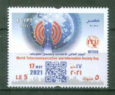 EGYPT / 2021 / UN / ITU / WTISD / GLOBE / TELECOMMUNICATIONS / INFORMATION SOCIETY / MNH / VF - Nuovi