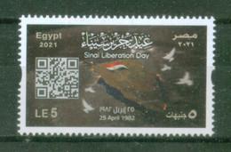 EGYPT / 2021 / SINAI LIBERATION DAY / FLAG / DOVE / MAP / MNH / VF - Nuovi