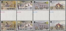 Isle Of Man 1977. Mi.#97/100 MNH/Luxe. Motorcycle Racing. Scouts. Medicine (B03) - Isla De Man