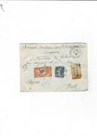 Enveloppe St Gervais Sur Mare (34) Avec 5 Cachets De Cire Au Verso - Historical Documents