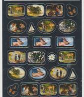 USA- Sheet Of 23 Stickers. - Sonstige