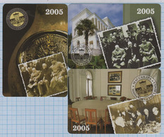 UKRAINE 3 Pocket Calendars Massandra Winery WWII Yalta Conference Of The Leaders Of The Anti-Hitler Coalition 2005 - Tamaño Pequeño : 2001-...
