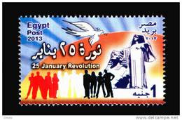 EGYPT /2013 / 25 JANUARY REVOLUTION / EGYPT'S RENAISSANCE STATUE BY : MAHMOUD MOKHTAR / DOVE / MNH / VF - Nuovi