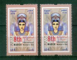 EGYPT / 2019 / COLOR VARIETY / INTL. WOMEN'S DAY / UN / EGYPTOLOGY / ARCHEOLOGY - Nuovi