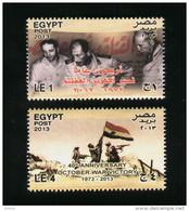 EGYPT / 2013 / ISRAEL / PRES. SADAT / AHMED ISMAIL ALI / SAAD EL SHAZLY / OCTOBER WAR VICTORY / FLAG / MNH / VF - Nuovi