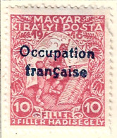FD Arad ( Hongrie) Occupation Française / Hungary * (MH= )  1919  N°1 (défaut : Dent Abîmée) - Neufs