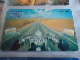 THAILAND USED CARDS PIN 108  SPORTS  MOTORBIKES RASSING - Moto
