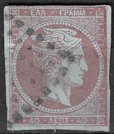 GREECE 1862-67 Large Hermes Head Consecutive Athens Prints40 L Light Mauve On Blue Vl. 33 / H 20 I A - Gebruikt