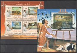 TG808 2012 TOGO TOGOLAISE ART PAINTINGS SALVADOR DALI 1KB+1BL MNH - Sonstige