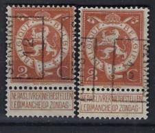 PELLENS Type Staande Leeuw Nr. 109 Voorafgestempeld Nr. 2069 A + B   SERAING 12 ; Staat Zie Scan ! - Roller Precancels 1910-19