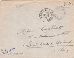 24762# WW2 LETTRE FM FIELD POST OFFICE 70 + POSTE AUX ARMEES 1940 Pour SAINT AMAND MONT ROND CHER - WW II