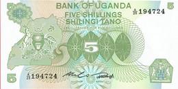Ouganda - Billet De 5 Shillings - Non Daté (1982) - P15 - Oeganda