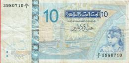 Tunisie - Billet De 10 Dinars - Elissa - 7 Novembre 2005 - P90 - Tusesië