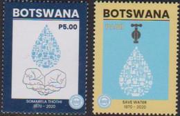 BOTSWANA, 2020, MNH,  WATER, SAVE WATER, 2v - Environment & Climate Protection