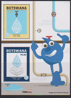 BOTSWANA, 2020, MNH,  WATER, SAVE WATER,  S/SHEET - Environment & Climate Protection
