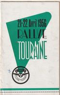 Rare Programme Rallye De Touraine 21-22 Avril 1956 - Cars