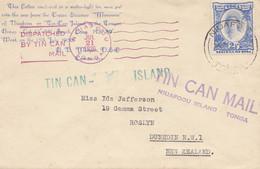 Toga: Tin Can Mail - Blechdosenpost - To New Zealand 1936 - Tonga (1970-...)