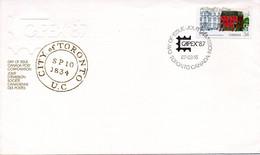 CANADA. N°982 Sur Enveloppe 1er Jour (FDC) De 1987. Capex'87/Bureau De Poste. - Post