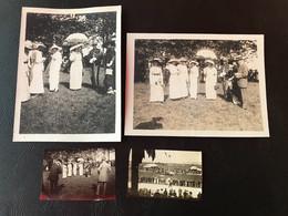 4 X Photo - 1913 - BOURG EN BRESSE Courses Hippiques - Dames élégantes Aux Chapeaux & Officiers En Tenue D'honneut - Places