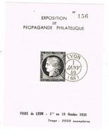 BLOC NEUF EXPOSITION PROPAGANDE PHILATELIQUE LYON CERES CAD 1ER JANVIER 1949 - Philatelic Fairs